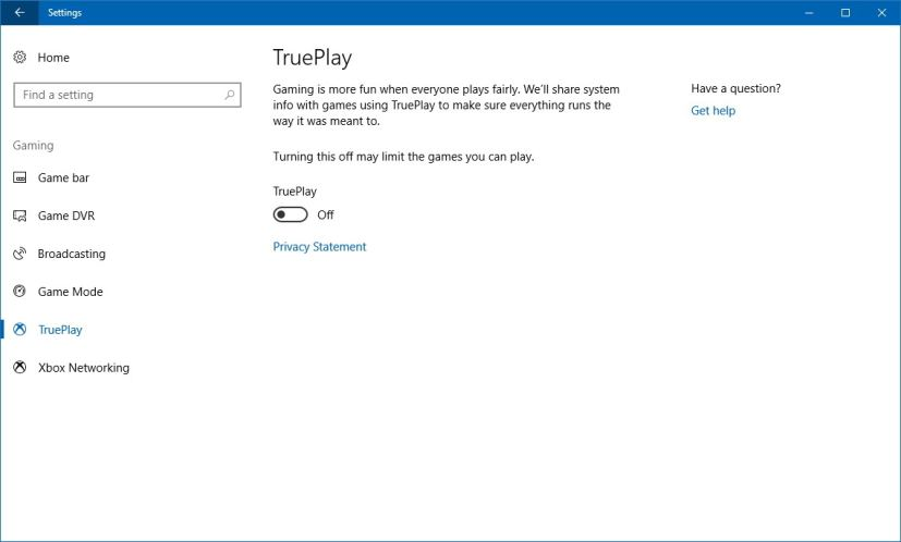 TruePlay settings