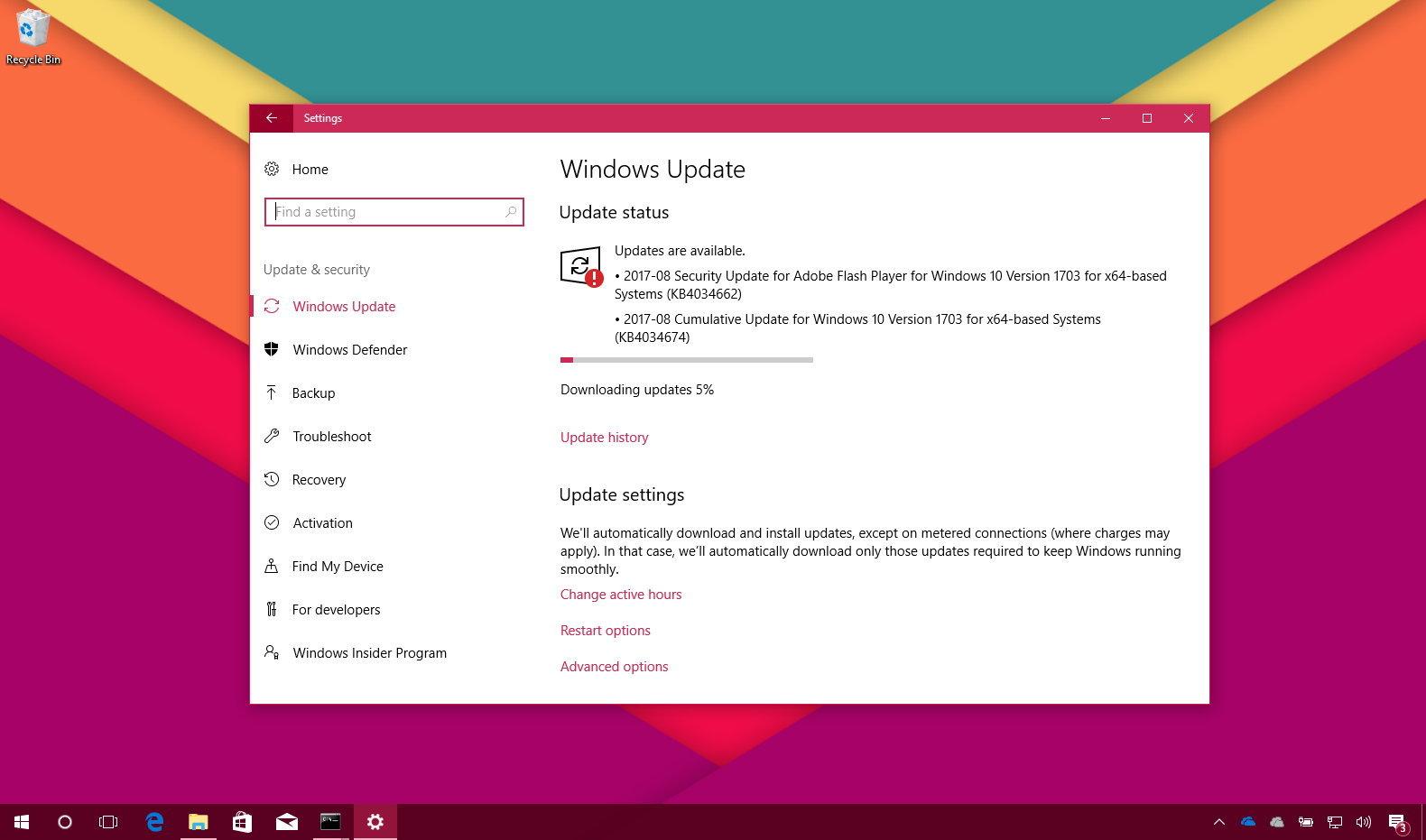 KB4034674 Windows 10 Update