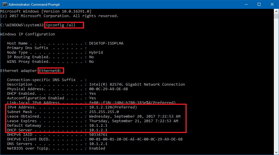 How to change static ip address in windows 10 using cmd