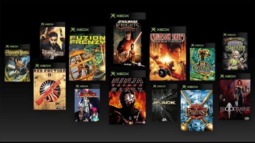 Original Xbox games backwards compatibility