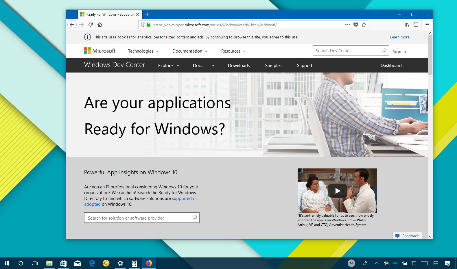Windows 10 app compatibility checker