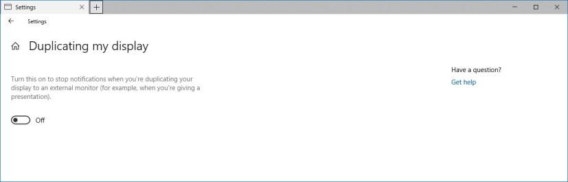 Quiet hours: Duplicating my display settings