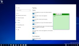 Showing text suggestions using hardware keyboard on Windows 10