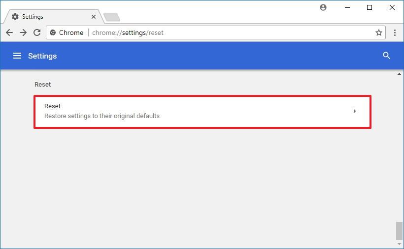reset google chrome fonts