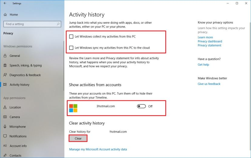 how to disable timeline on windows 10 pureinfotech