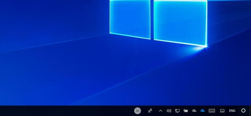 Cortana in the notification area (mockup)