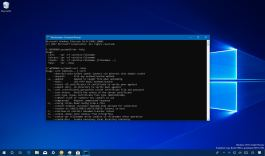 Tar and curl tools on Windows 10