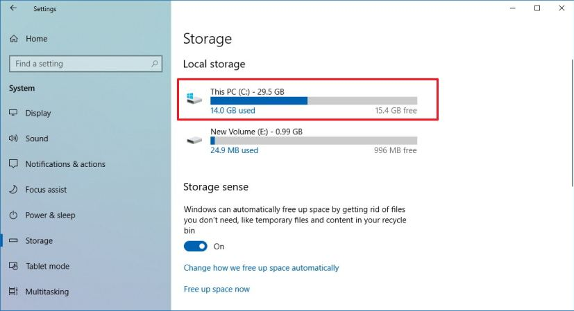 windows 10 how much space