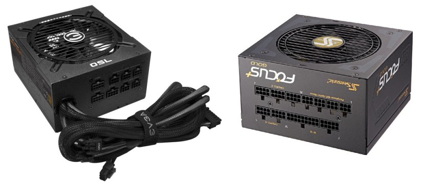 Semi-modular (left), fully-modular (right) power supply