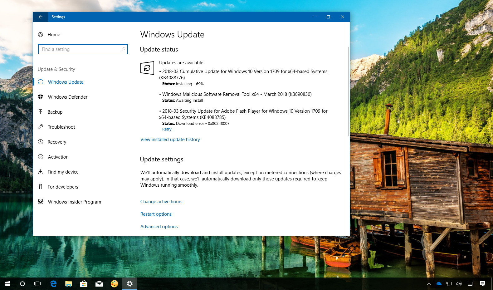 Update for windows 10 version 1709 for x64-based systems