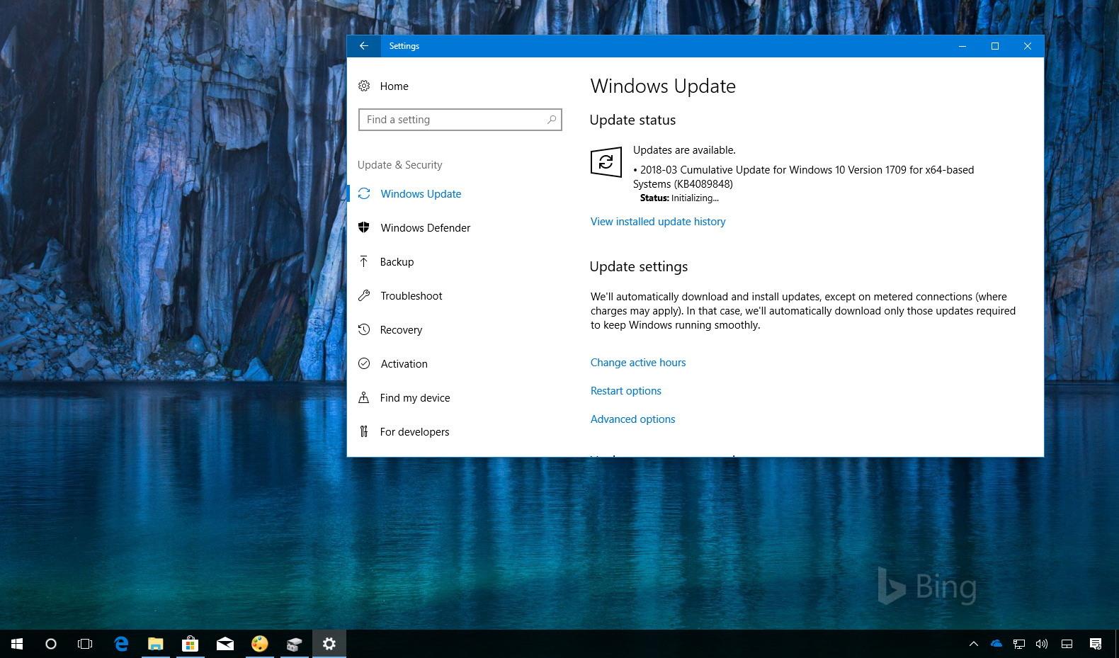 KB4089848 update for Windows 10 version 1709