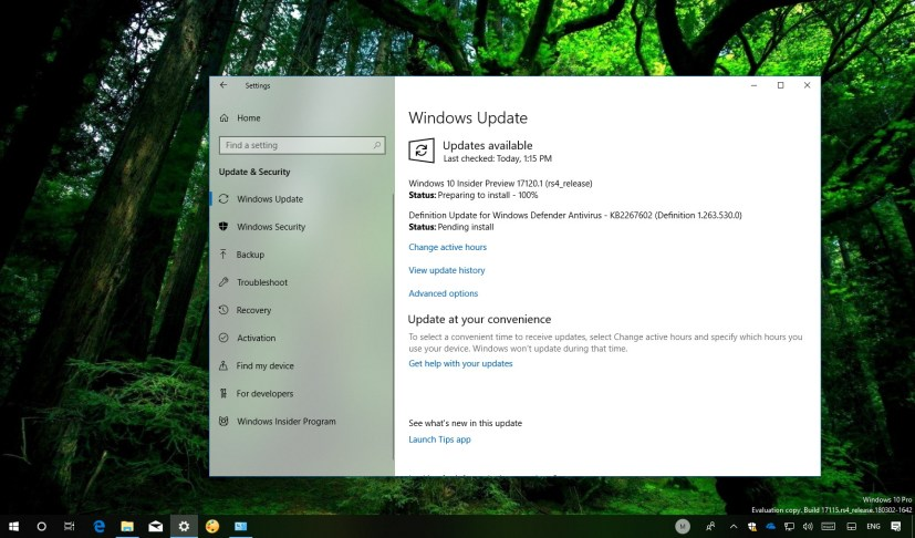 Windows 10 build 17120