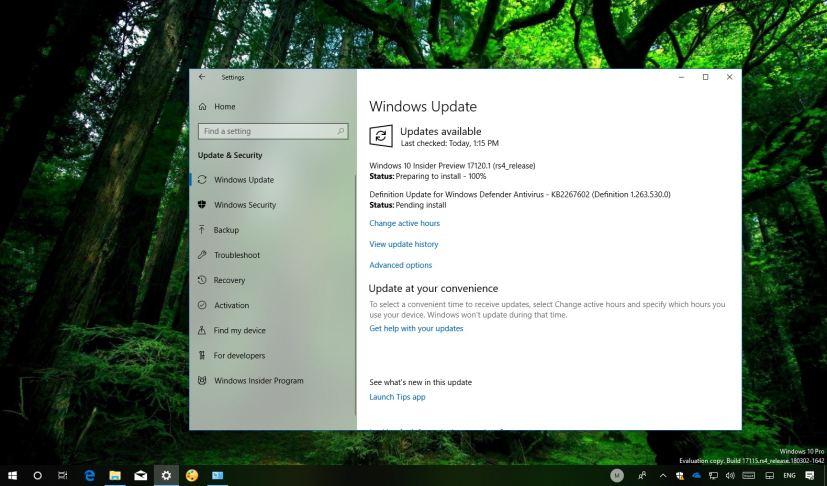 Windows 10 build 17120