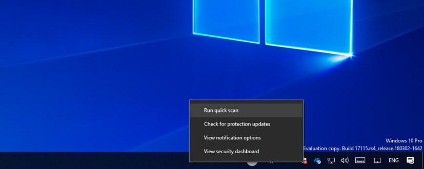 Windows Defender icon options