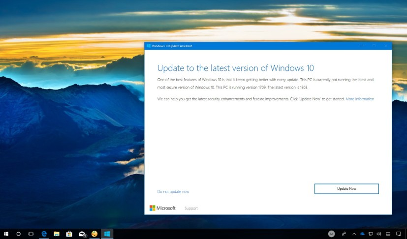 Windows 10 April 2018 Update Assistant