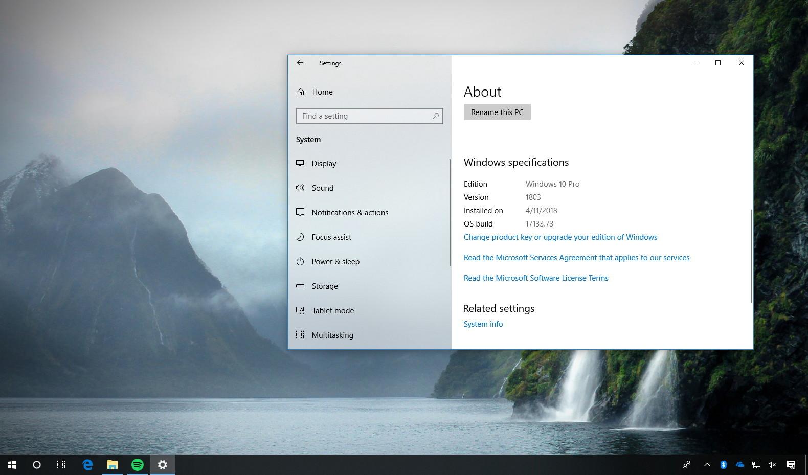 Windows 10 build 17133 RTM no more