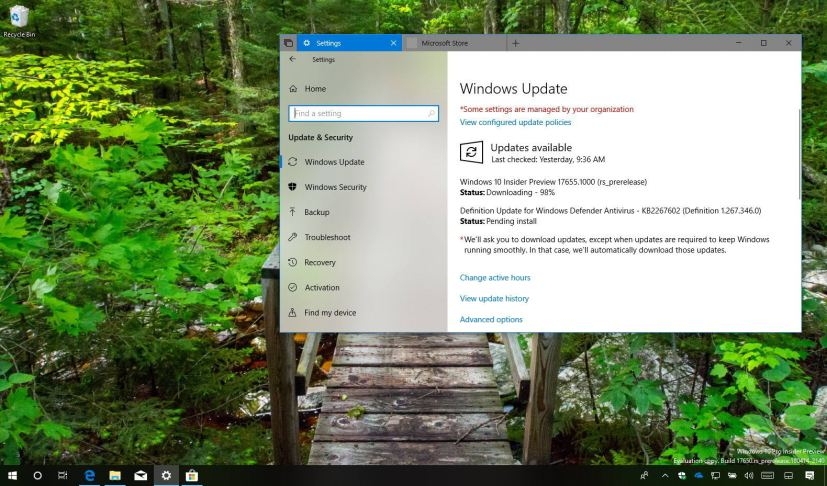Windows 10 build 17655 release