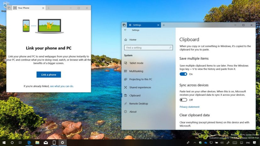 Windows 10 build 17666 new features