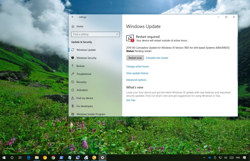 KB4284835 update for Windows 10