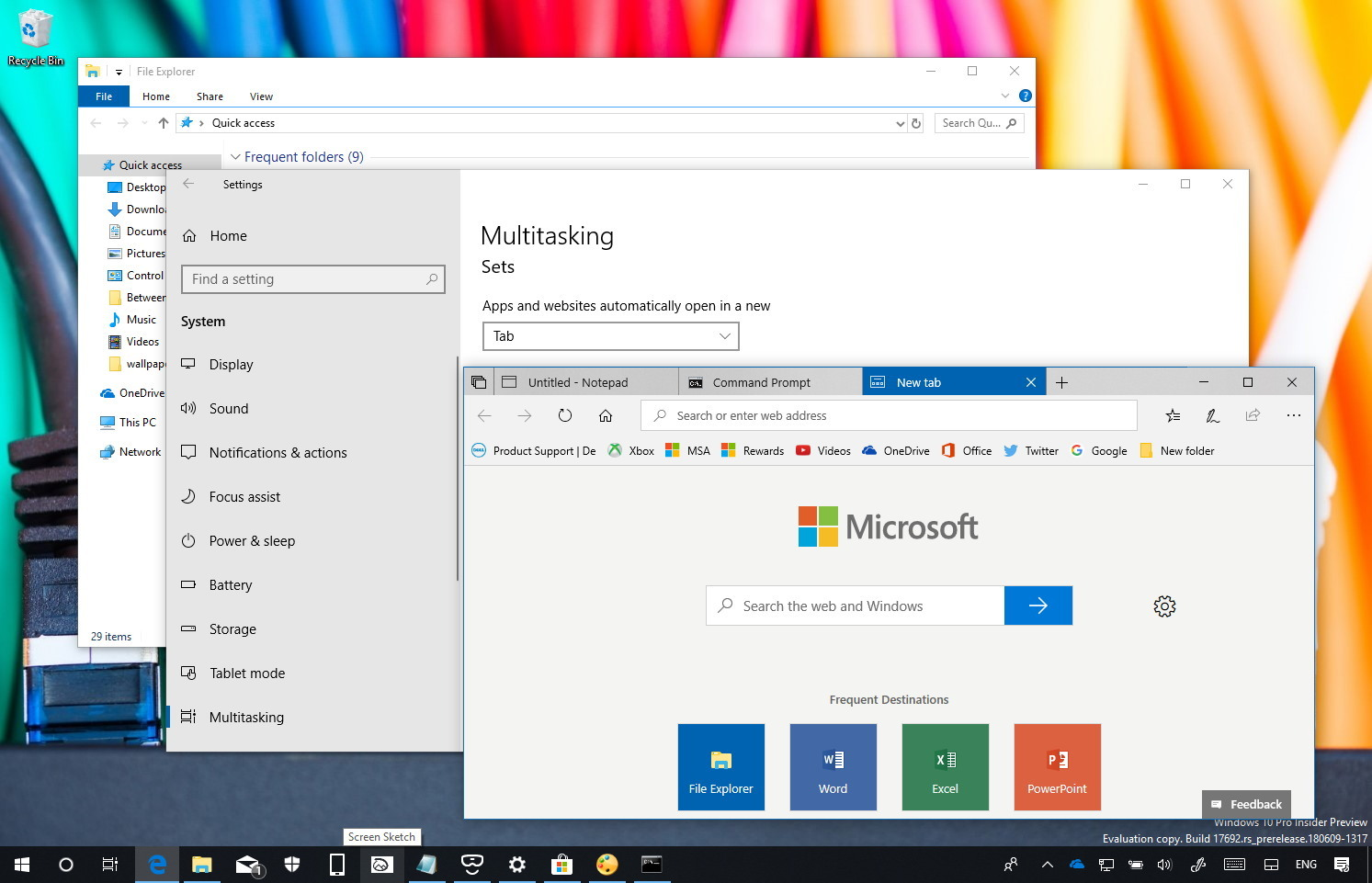 Disable apps individually in Sets on Windows 10