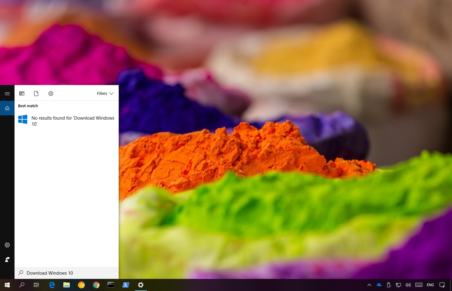 Disable web search results on Windows 10