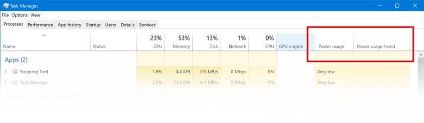 """علامة التبويب """"أداء إدارة المهام"""" على WIndows 10 build 17704"""