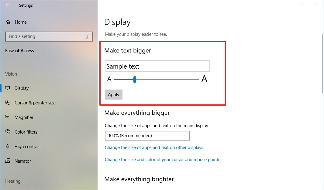 How to change system font size on Windows 10 Pureinfotech