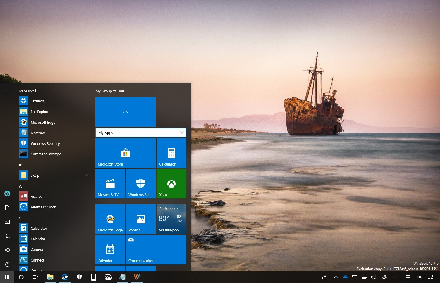 Start menu folder name on Windows 10