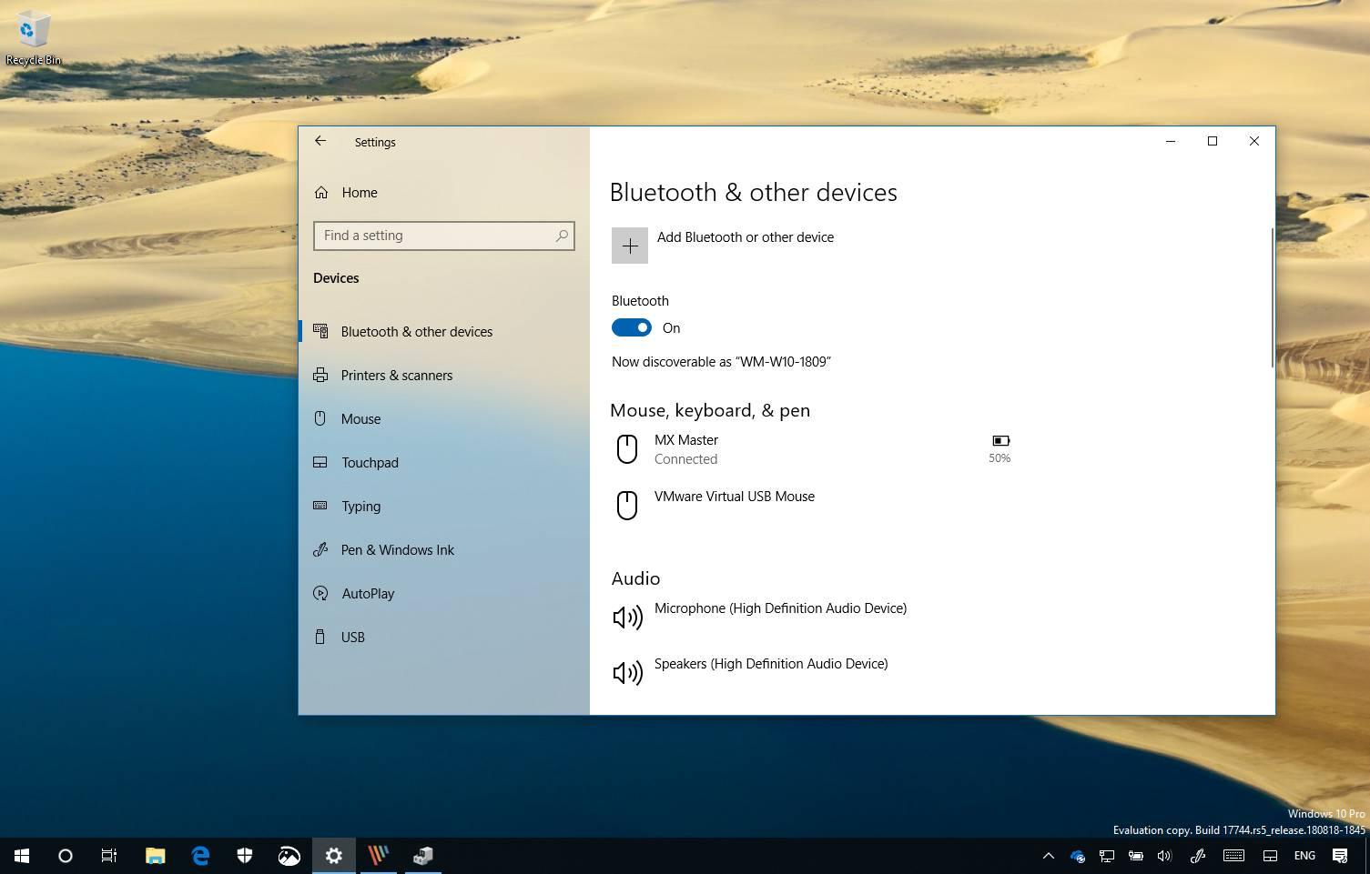 Bluetooth battery level indicator on Windows 10