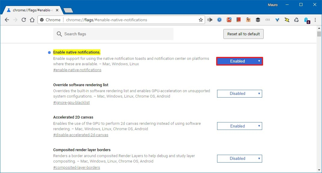 How to enable native Chrome notifications on Windows 10 \u2022 Pureinfotech
