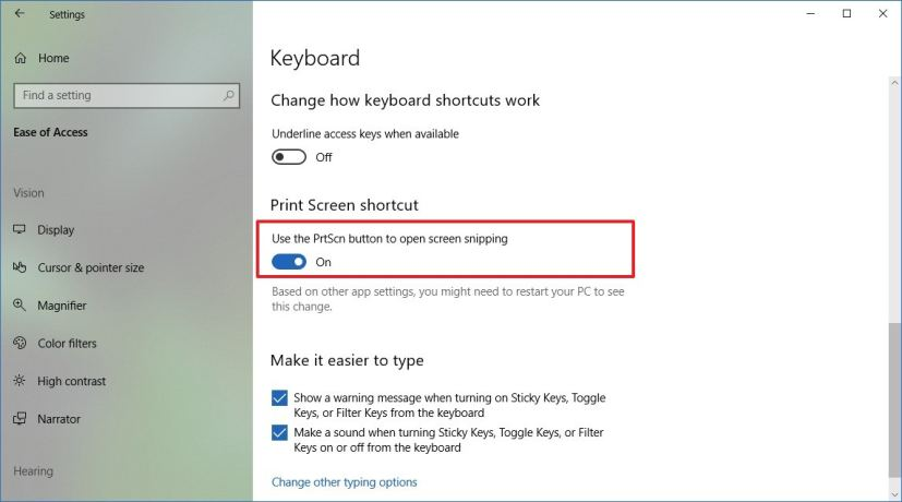 pc snipping tool shortcut