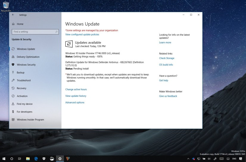 Windows 10 build 17746