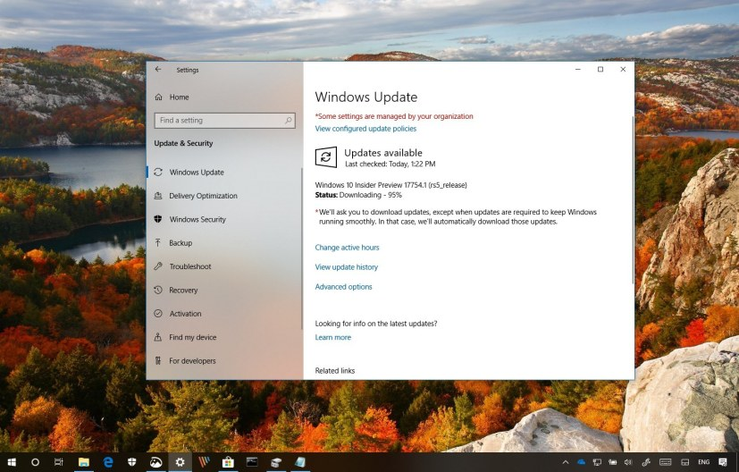 Windows 10 build 17754 changes
