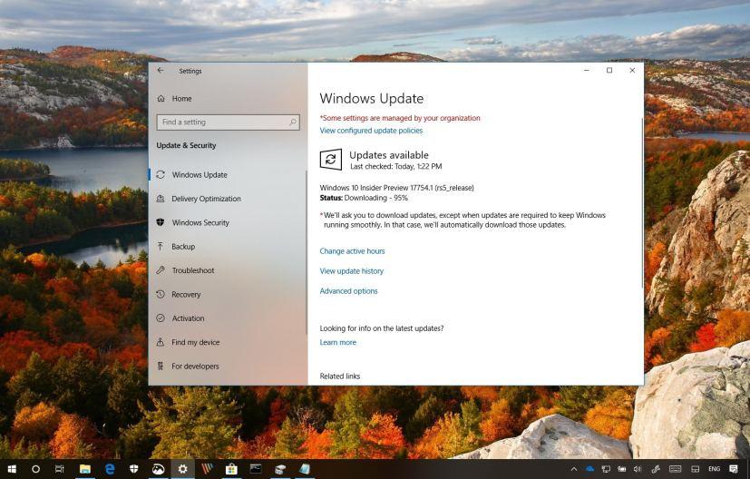 Windows 10 build 17754 changes
