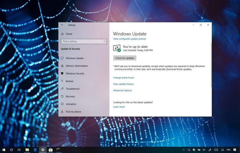 Windows 10 update KB4464455