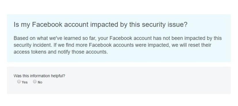 Facebook Help Center hack check