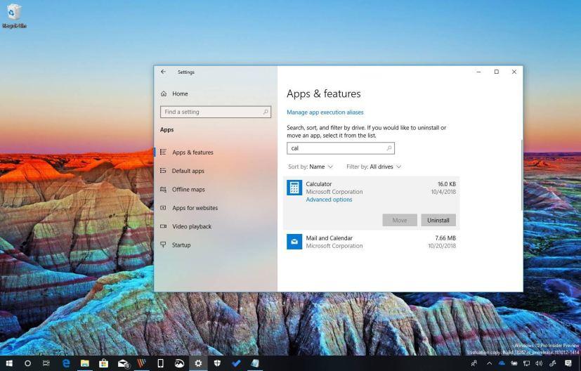 Windows 10 uninstalling inbox apps