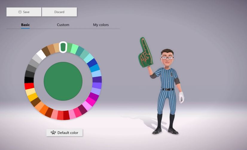 Xbox One Avatars in the October 2018 Update