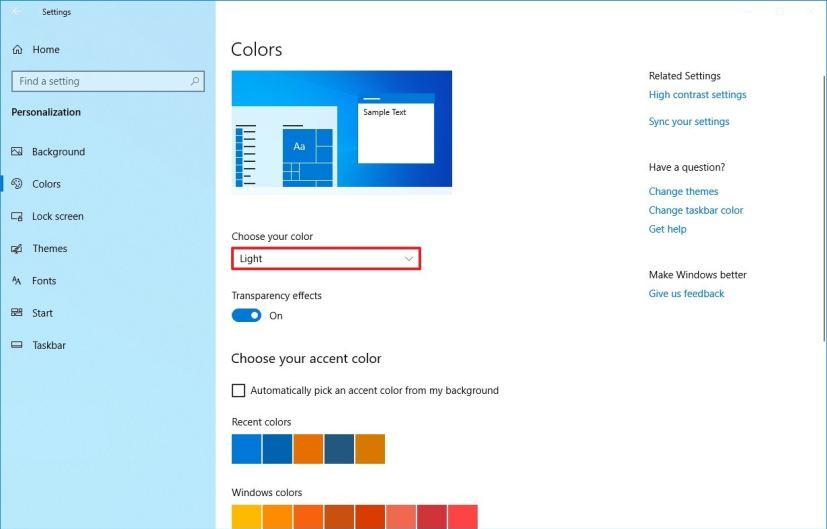 Full light theme for Windows 10 version 1903