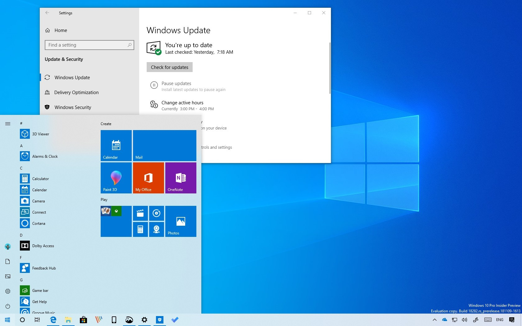 Technology Management Image: Windows 10 Version 1903, April 2019 Update: All The New