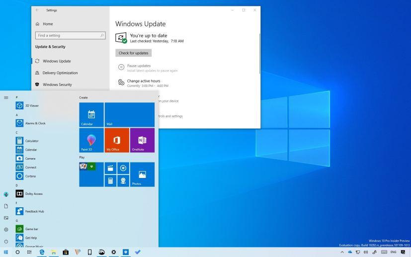 microsoft windows 10 october 2019 update