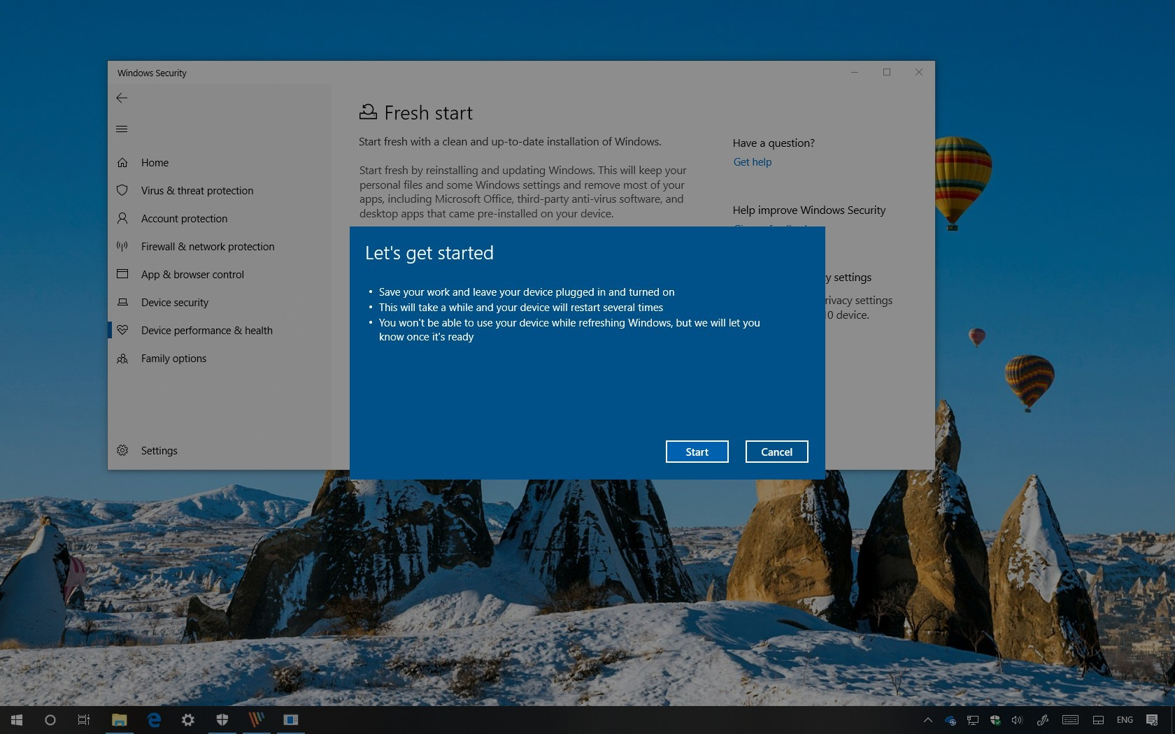 Windows 10 Fresh Start without bloatware