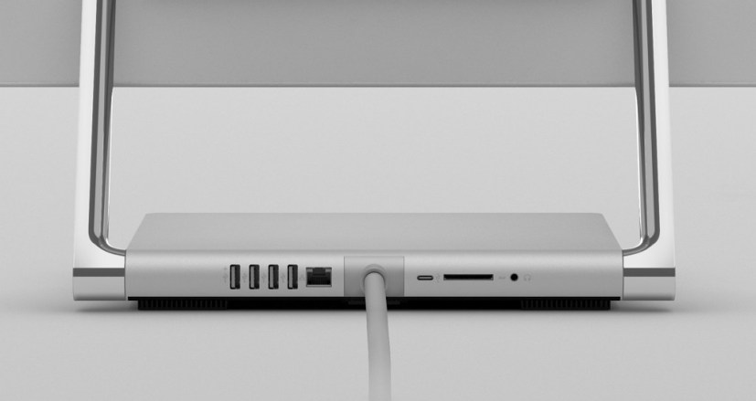 Surface Studio 2 back ports