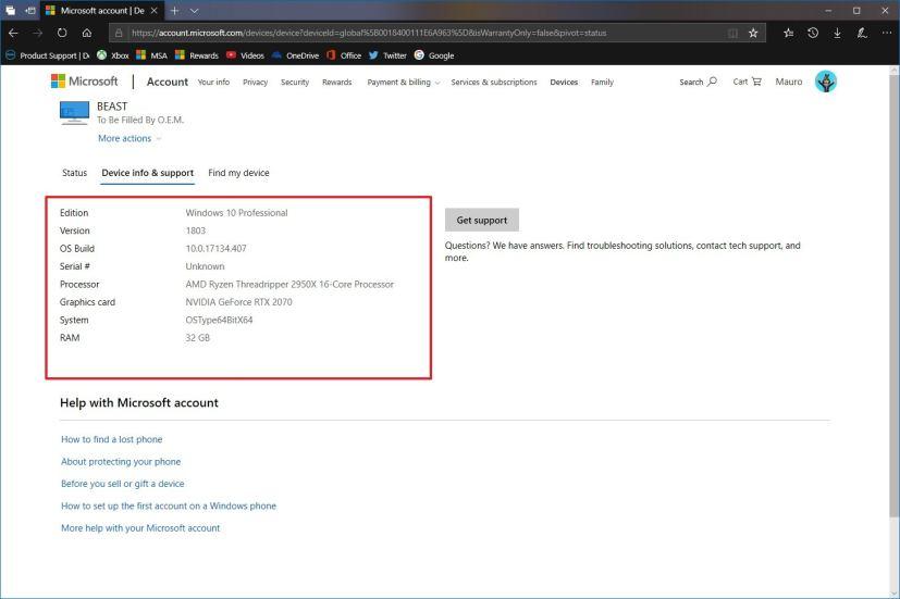 PC hardware information