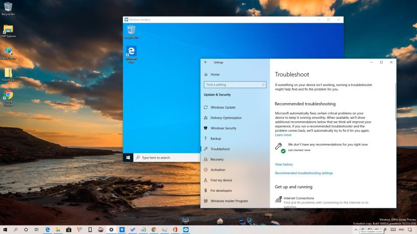 Windows 10 build 18305 Windows Sandbox and Recommended Troubleshooting