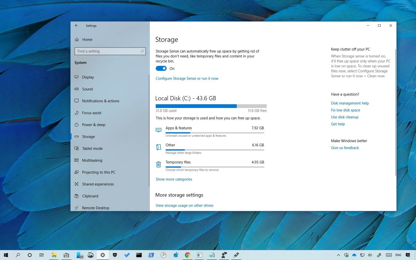 How to see what's taking up space on a hard drive on Windows 10
