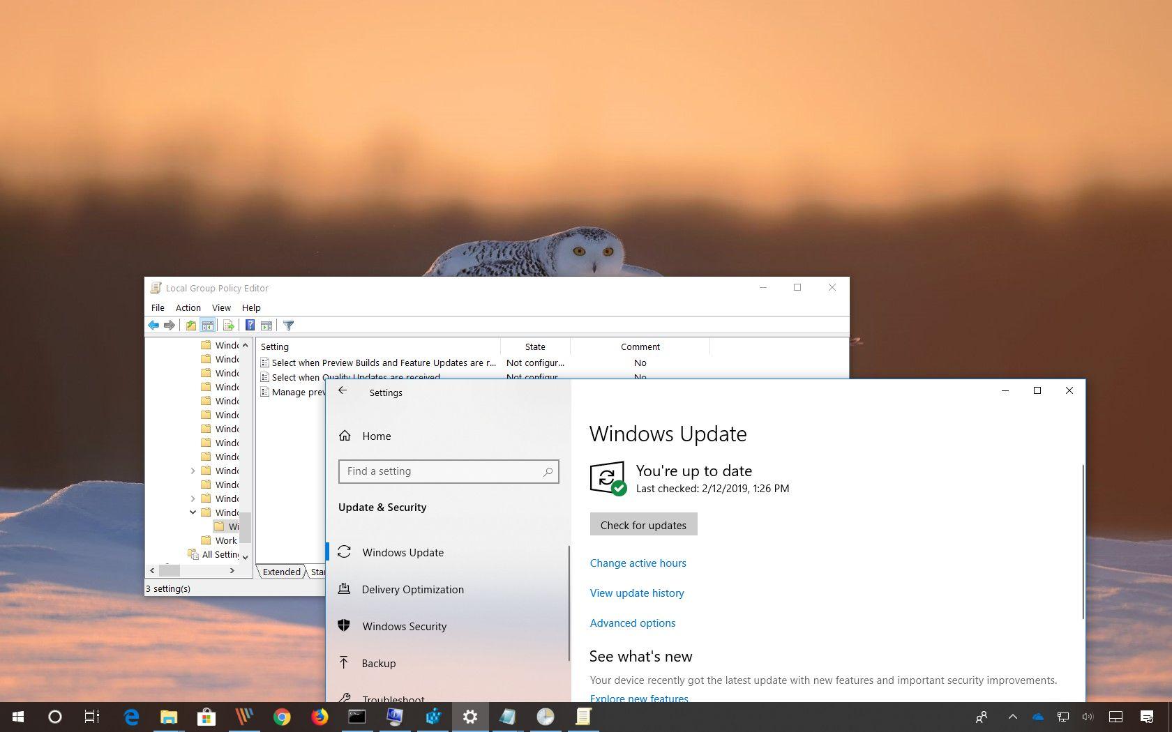 Options to defer Windows 10 version 1903, April 2019 Update