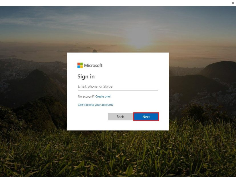 Microsoft account sign in