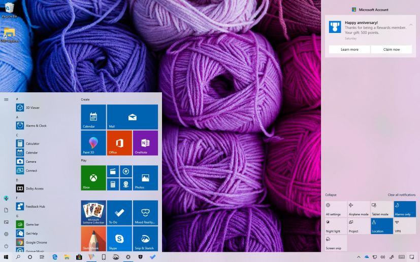 Windows 10 April 2019 Update, version 1903, light theme