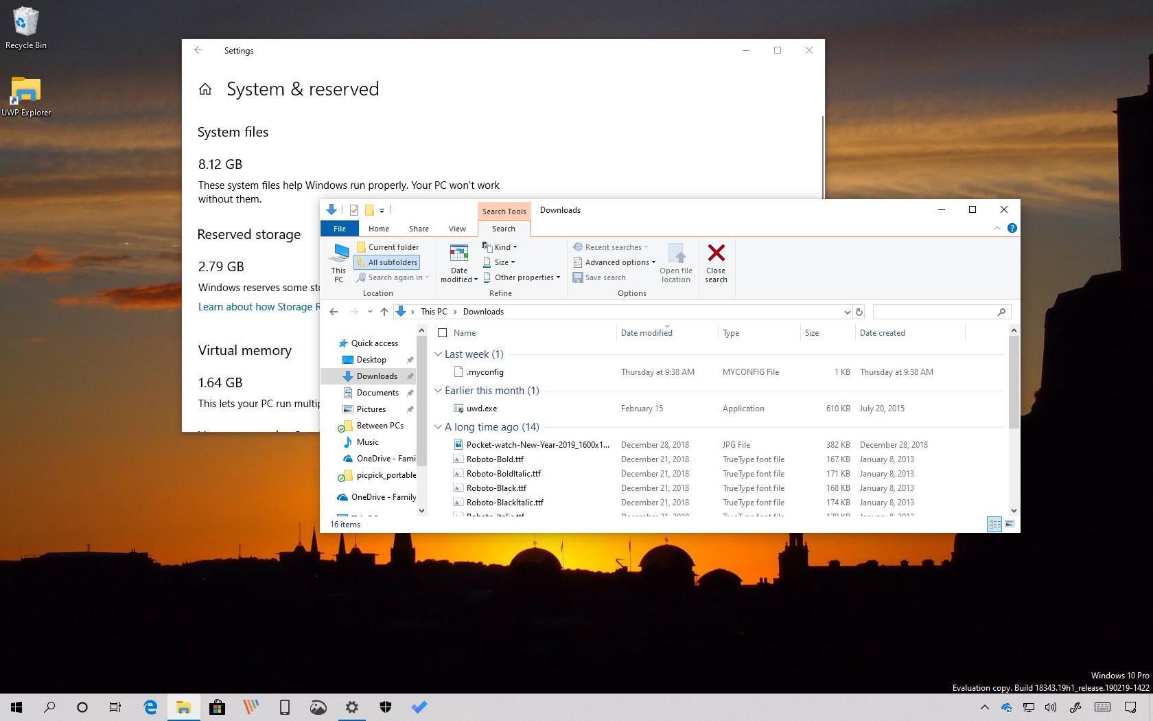 Windows 10 version 1903 hidden features
